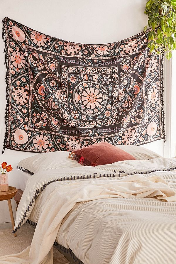Boho Bedroom Goals | Stunning Wall Tapestry #boho #bohemianbedroom  #rusticdecor #homedecor #