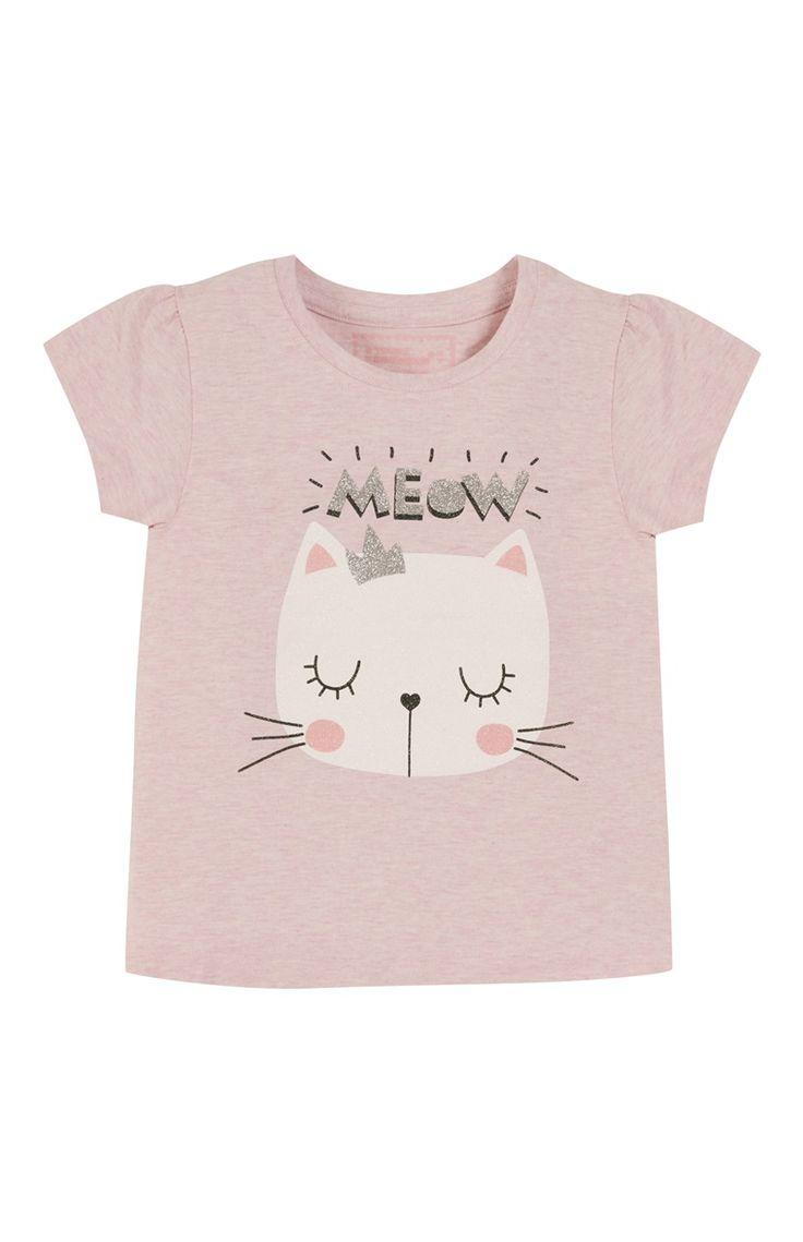 Pink Meow Cat Top