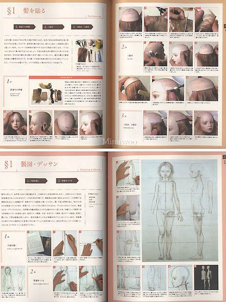 Ball Jointed Doll Tutorial | ... Doll BJD Making Guide Book - Mimi Collection ~ Shop of Ball Joint Doll