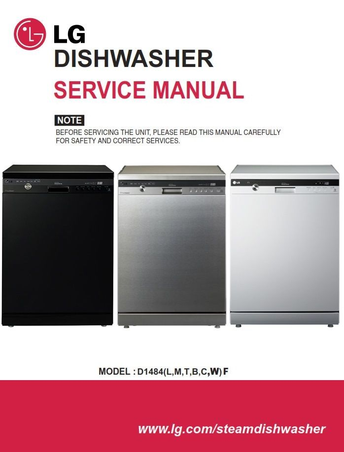 Lg D1484wf D1484cf D1484bf Dishwasher Service Manual Dishwasher Service Dishwasher Lg Dishwashers