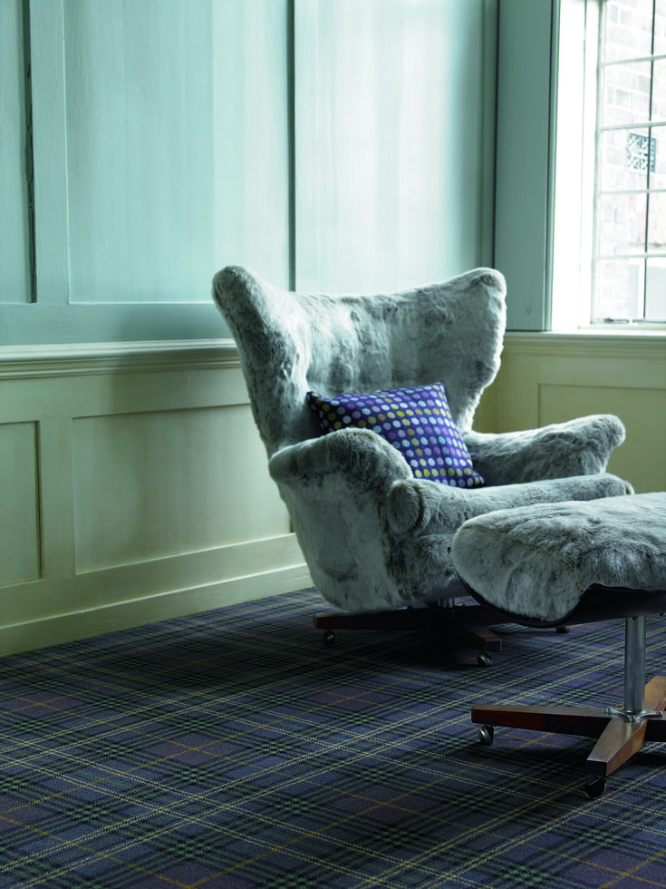 Brintons abbeyglen fermanagh plaid 9 38258 purple for Wall to wall carpet cost