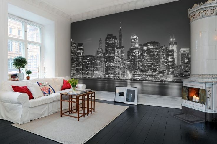 Hey,+look+at+this+wallpaper+from+Rebel+Walls,+New+York+at+Night!+#rebelwalls+#wallpaper+#wallmurals