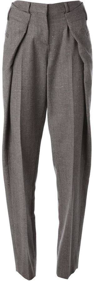 Maison Margiela origami tweed trousers