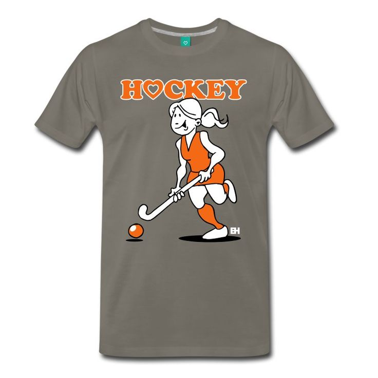 Field hockey love. A hockey girl with her hockey stick.