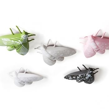 Moth Shaped Fire detectors - think a butterfly or star design would of been nicer - but these could be put into a childs bedroom - if they dont mind moths!