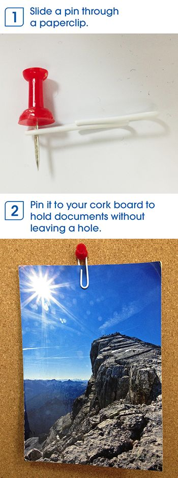 Stop leaving holes in your documents and photos with this nifty office hack.