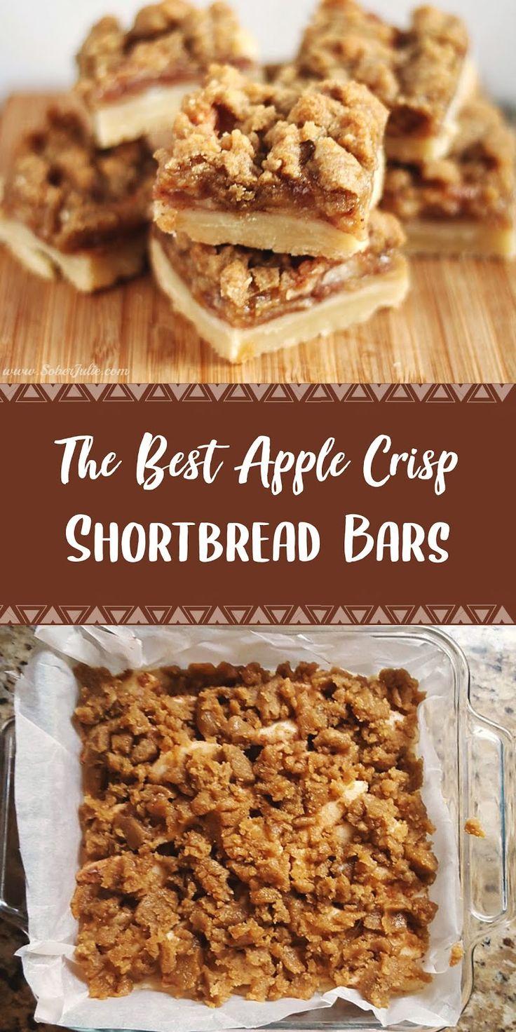 The Best Apple Crisp Shortbread Bars Recipe | Healthy Recipes