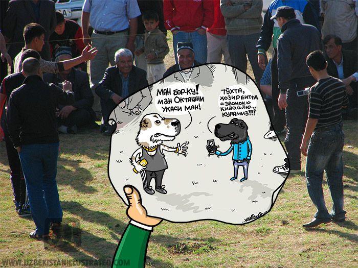 Собачьи бои в Узбекистане. | Uzbekistan Illustrated