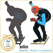 """A Snaps application offered by Procter & Gamble's Braun shaver allows mobile users to superimpose images of themselves onto an image of U.S. short track speed skater J.R. Celski. It's part of the company's sponsorship of Celski at the Winter Olympics. """"The goal of the program is to provide fans with a fun way to get involved with J.R.'s Olympic journey, while also introducing them to the Braun brand,"""" said Brian Messerschmitt, Braun's brand manager for North America."""