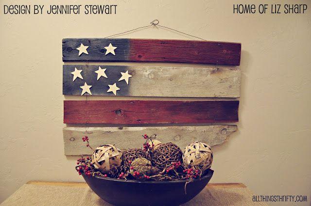 Amerikaanse vlag van hout