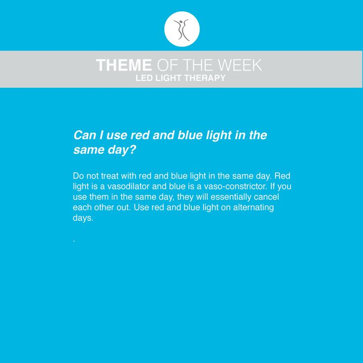 Question: Can I use red and blue light in the same day? #dermacaredirect #LED #FAQ