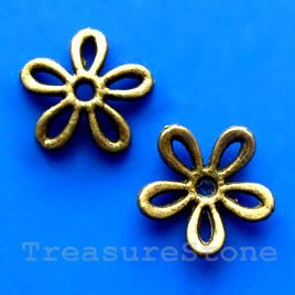 #Bead cap, antiqued brass finished, 12mm. #TreasureStone #Beads Edmonton.