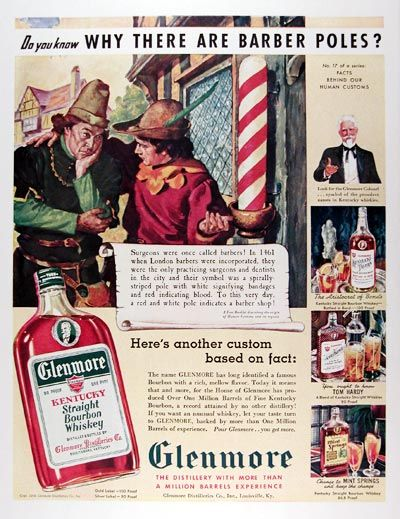 1939 Glenmore Whiskey original vintage ad
