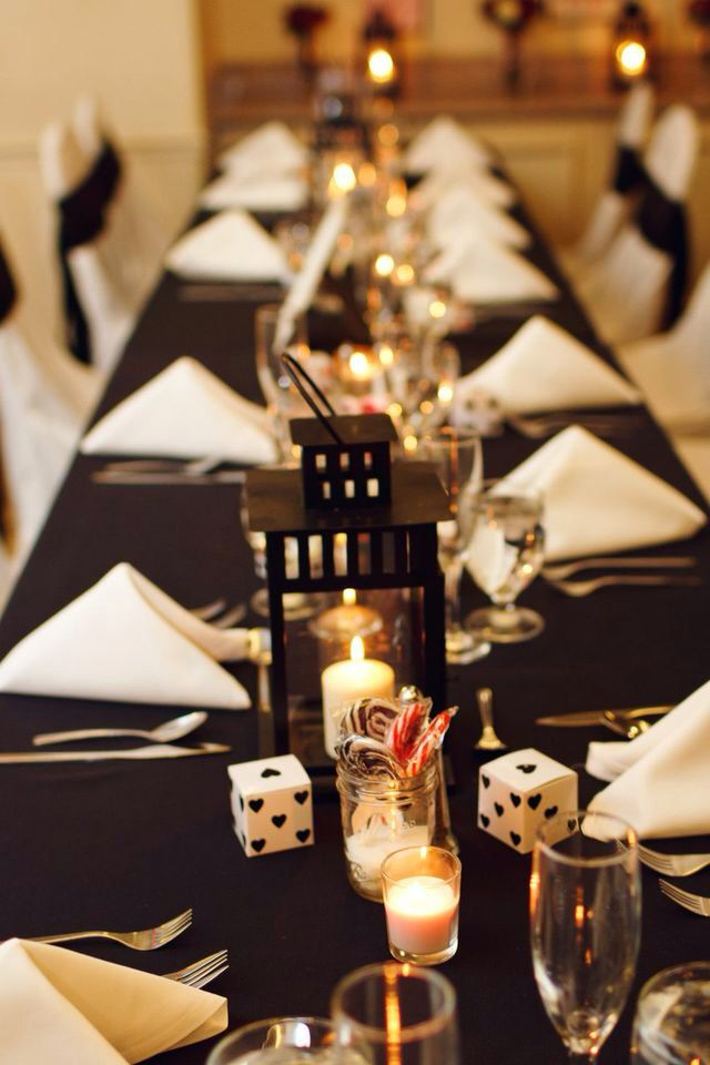 Casino Wedding Reception Table Decorations And Favors