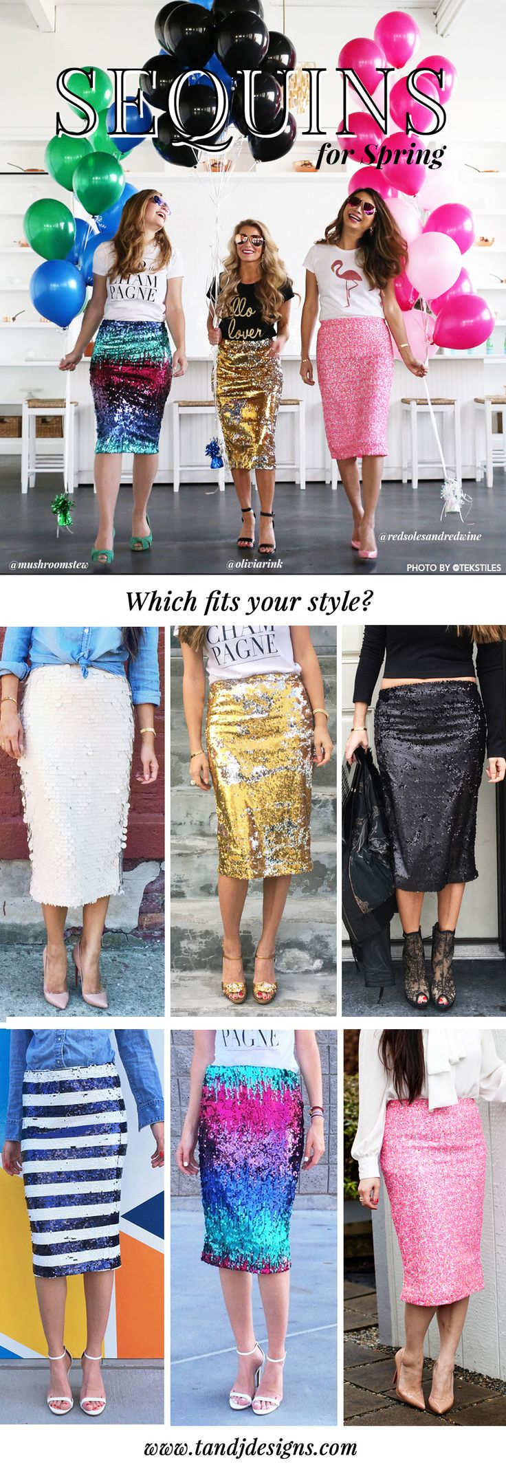 Every girls dream! Sequin skirts in every color - Which fits your style?
