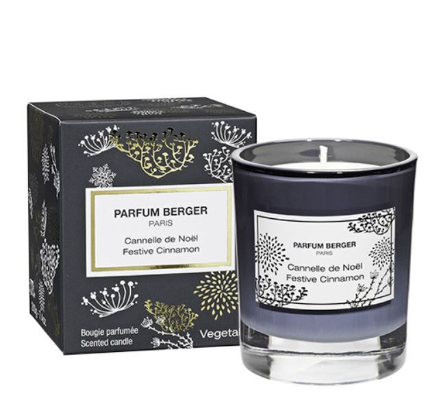 NEW to Parfum Berger, sister company of Lampe Berger Candles! Festive Cinnamon Scented Candle limited edition fragrance for 2017