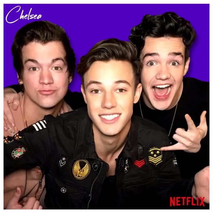 Cameron Dallas, Aaron Carpenter and Taylor Caniff