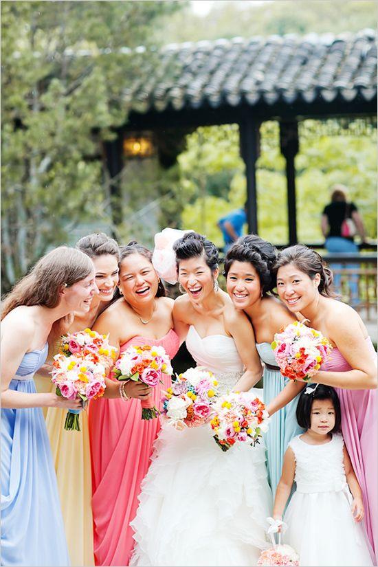 mismatched bridesmaid dresses from Bari Jay Bridemaids