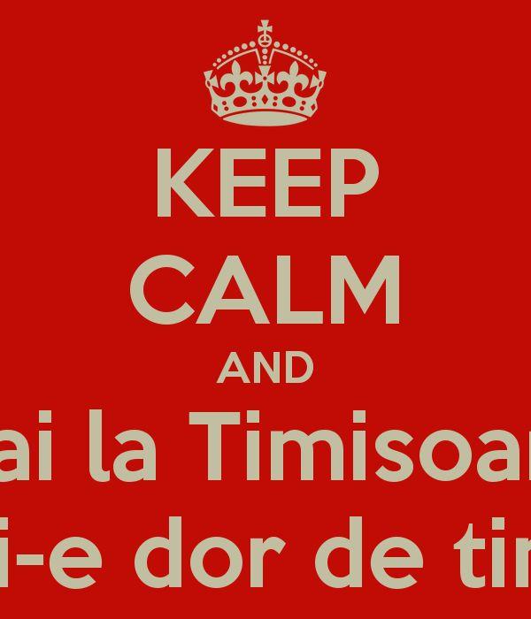 KEEP CALM AND Hai la Timisoara Mi-e dor de tine