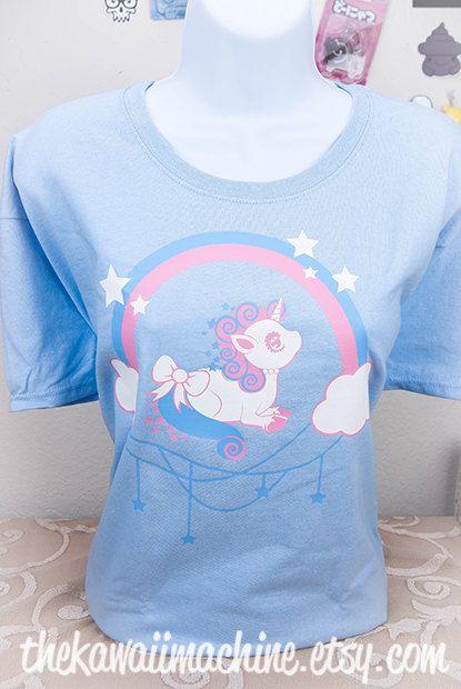 Kawaii Fairy Kei Pastel Unicorn Wish Womens by thekawaiimachine, $25.00
