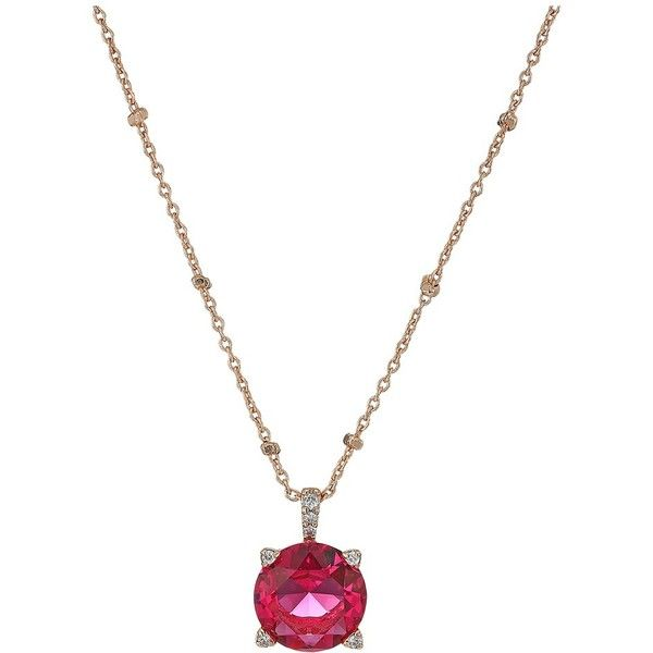 Vera Bradley Sparkling Necklace (Rose Gold Tone/Pink) Necklace ($38) ❤ liked on Polyvore featuring jewelry, necklaces, pink gold necklace, rose gold pendant necklace, chain pendant necklace, adjustable chain necklace and pink pendant