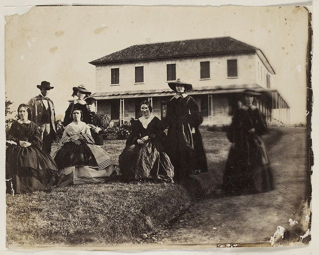 Rouse family and others, Rouse Hill House, 1859 / photographer Major Thomas Wingate by State Library of New South Wales collection, via Flickr