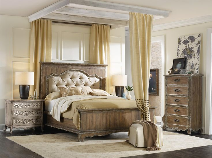 Shop for Hooker Furniture Chatelet King Upholstered Mantle Panel Bed  and  other Bedroom Beds furniture. 88 best Romantic rooms images on Pinterest   Romantic room  3 4