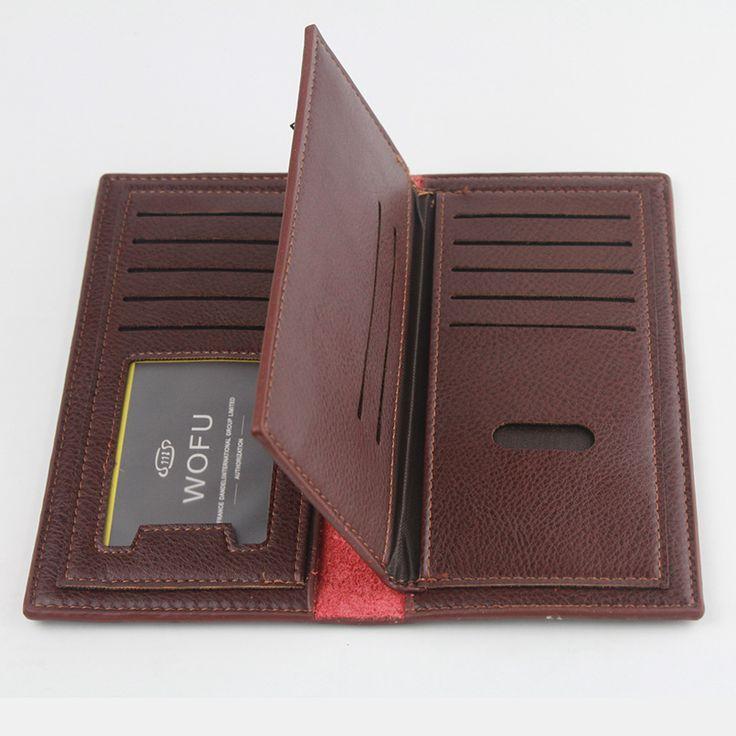 Luxus Marke Hohe Qualität Pu-leder Männer Lange Bifold Geldbörse Vintage Designer Männlich Carteira Geldscheinklammer schlanke brieftasche