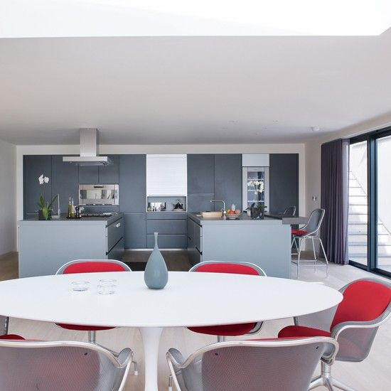 Grey And Red Dining Room Part 56