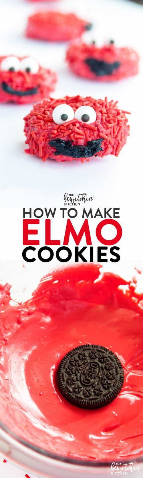 How to make Elmo cookies - these no bake cookies would be great for kids parties, especially a Sesame Street themed birthday or pre school class party! (How To Make Friends As A Child)