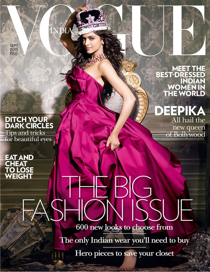 Vogue India Setembro 2013 | Deepika Padukone