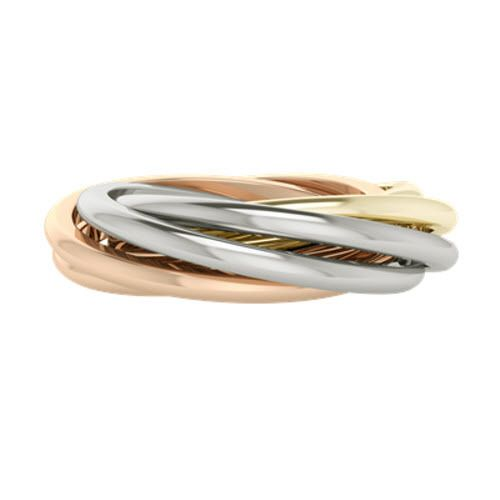 Double, or Six-Banded, Russian Wedding Ring. The Gemelle in Multi-Gold from StyleRocks