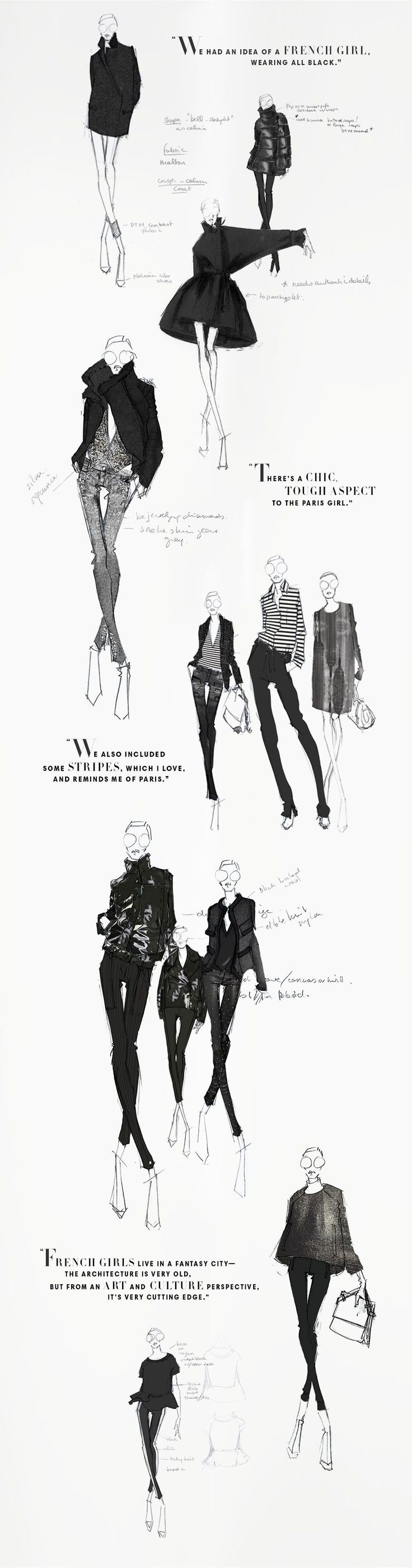 Beautiful sketches from the Joe Fresh sketchbook - Winter 2013. JOEFRESH.COM #FashionSketches