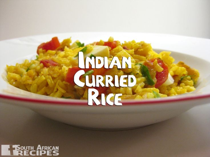 South African Recipes | INDIAN CURRIED RICE
