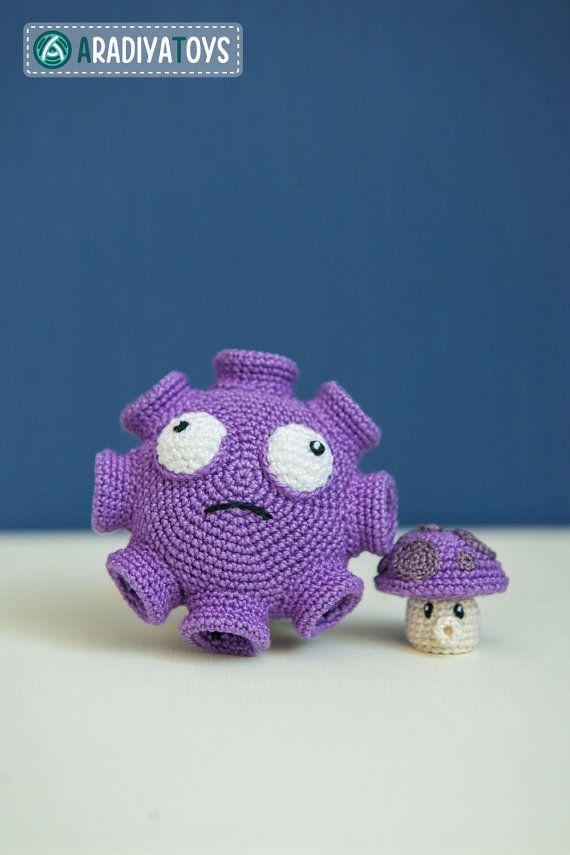 Crochet Pattern of Gloom and Puff Shrooms from Plants von Aradiya