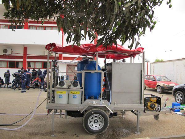 Eurofinsa Suministro, instalación y formación de plantas móviles en Angola (10 uds.)