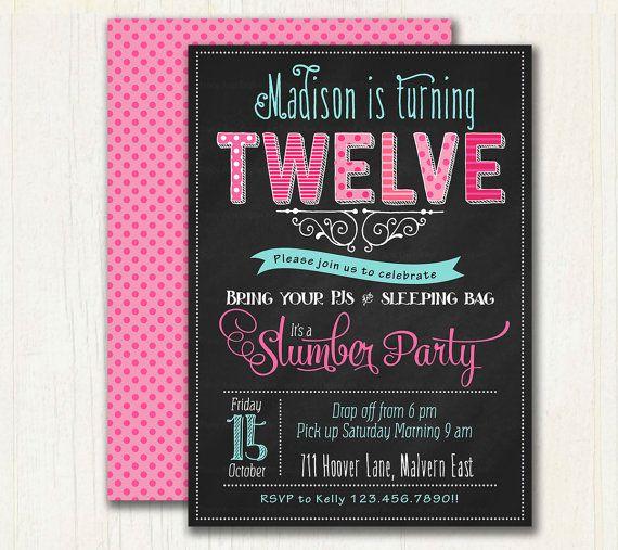 Pyjama Party Birthday Invitation.  by TracyAnnPrintables on Etsy