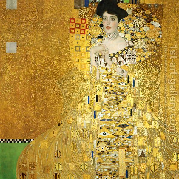 Portrait Of Adele Bloch Bauer I by Gustav Klimt