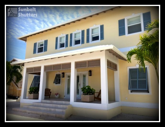 It 39 s better in the bahamas sunbelt shutters cedar for Sunbelt homes