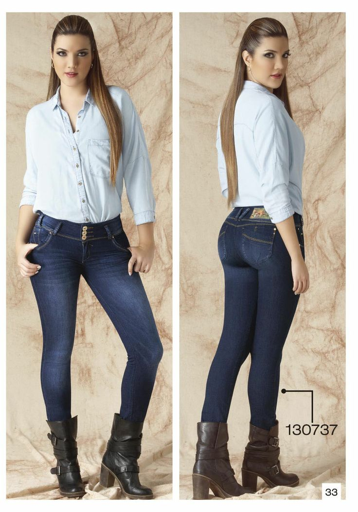 Botas con jeans mujer