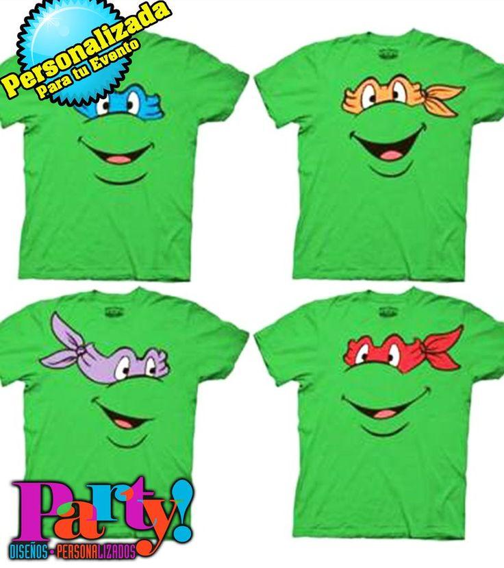 Playera Personalizada Tortugas Ninja Mutantes - Jinx playera, fiesta, personalizada, evento, ropa, camiseta, cumpleaños, programa, niños, trajes