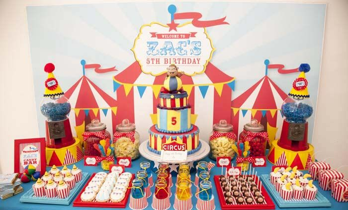 Una espectacular mesa de dulces para una fiesta circo / A spectacular sweet table for a circus party