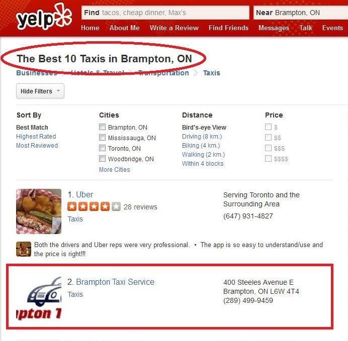 Yelp.ca -Best Taxi Service In Brampton