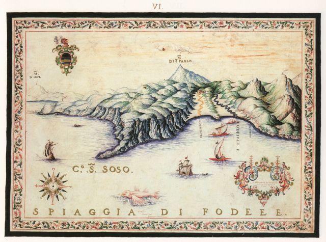 Άποψη της παραλίας του Φόδελε.... Francesco Basilicata..για την Κρήτη...1618 - 1638.