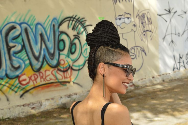 Box braids e Sidecut hair  #boxbraids #hair #sidecut #style