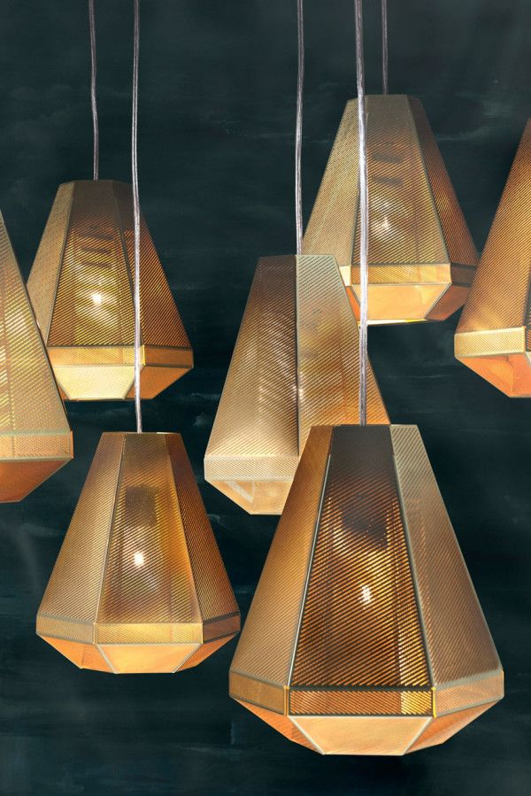 Tom Dixons New Monolithic Furniture, Cell Pendent (http://www.cimmermann.co.uk/product/tom_dixon_cell_short_suspension_light/)