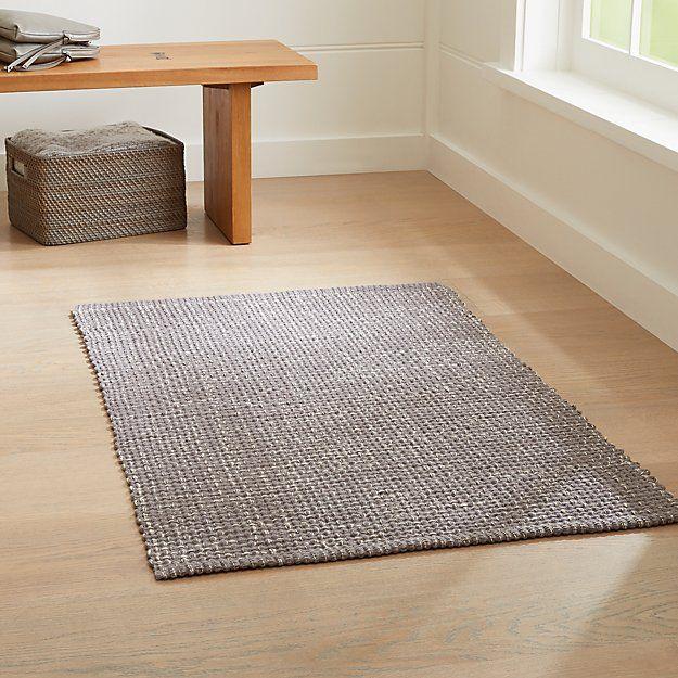 Della Indigo Cotton Flat Weave Rug | Crate and Barrel in ...