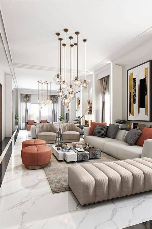Learn How To Make Your Living Room Look And Feel More Luxurious With These Easy To Implem… | Luxury Living Room, Living Room Design Modern, Contemporary Living Room