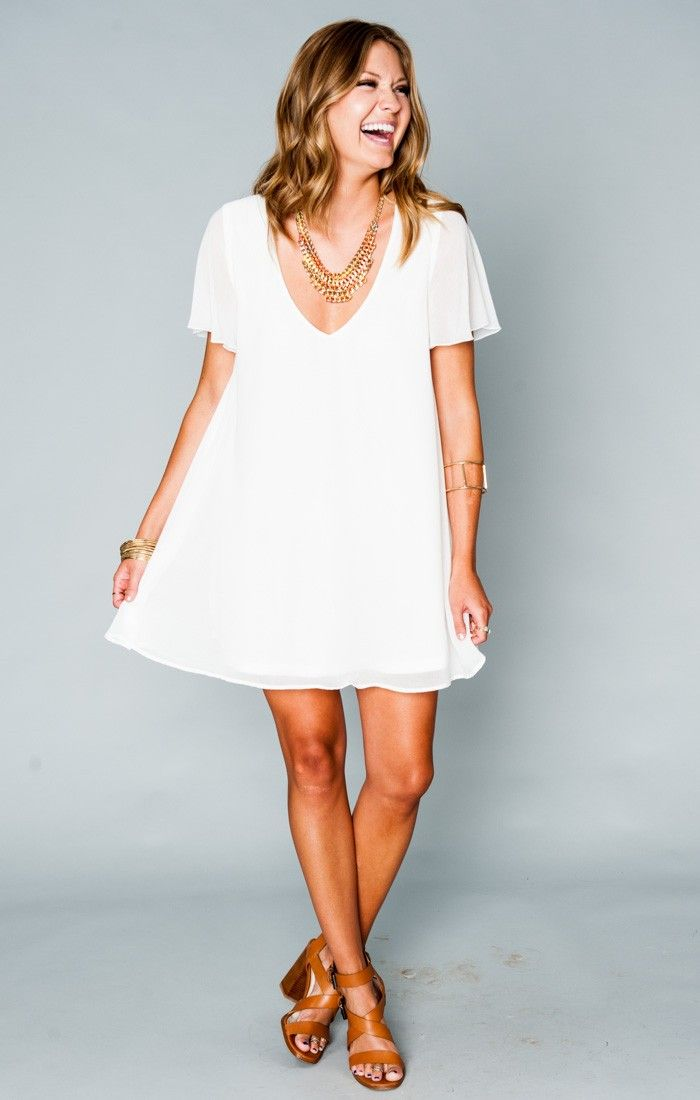 Kylie Mini Dress - White Chiffon | Show Me Your MuMu