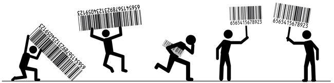 Code-barres ..  1974, Utilisation du premier code-barres   Un supermarché de Troy, en Ohio, devient le premier commerce de détail à utiliser le lecteur optique, qui automatise le procédé d'inscription des prix à la caisse.   Un paquet de gomme à mâcher est le tout premier article vendu avec code à barres et lecteur optique.